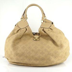 Auth Louis Vuitton Mahina Xl Biscuit #1115L10